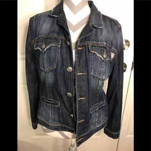 😘Silver brand Jean jacket large